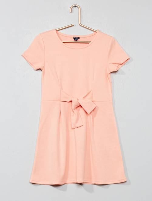 Robe patineuse à nœud                                         rose Fille