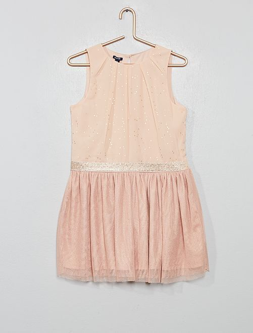 Robe patineuse à pois                                         rose