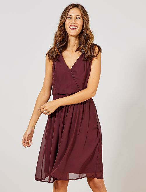 Robe patineuse à sequins                             bordeaux