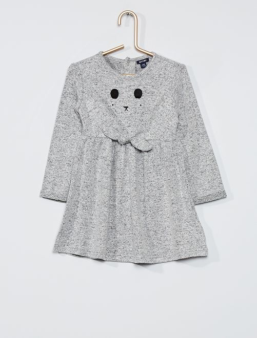 Robe patineuse en maille                                                     gris frimousse