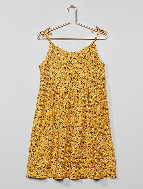 Robe patineuse fleurie                                                                 jaune Fille