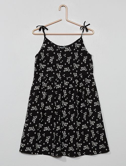 Robe patineuse fleurie                                                                 noir Fille