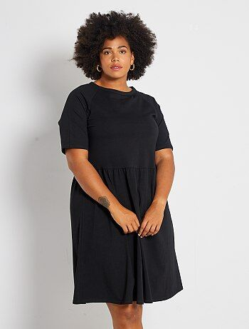 Grande taille femme - Robe patineuse stretch - Kiabi