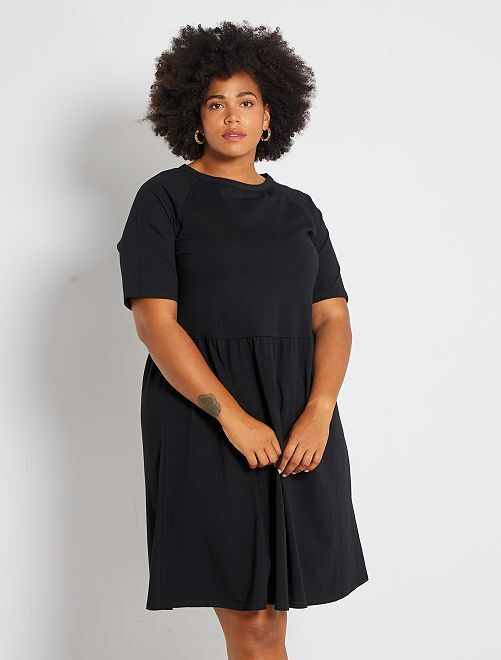 Robe patineuse stretch                             noir