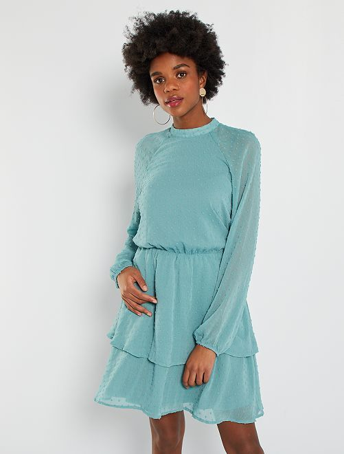 Robe plumetis                                         bleu