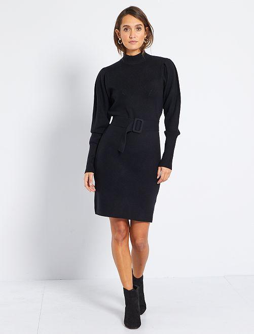 Robe pull à ceinture                             noir