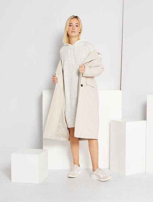 Robe pull avec capuche                                         gris clair