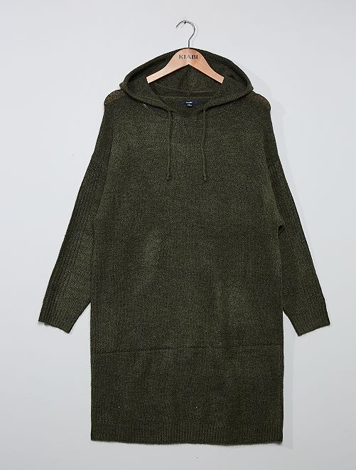 Robe pull avec capuche                                         kaki