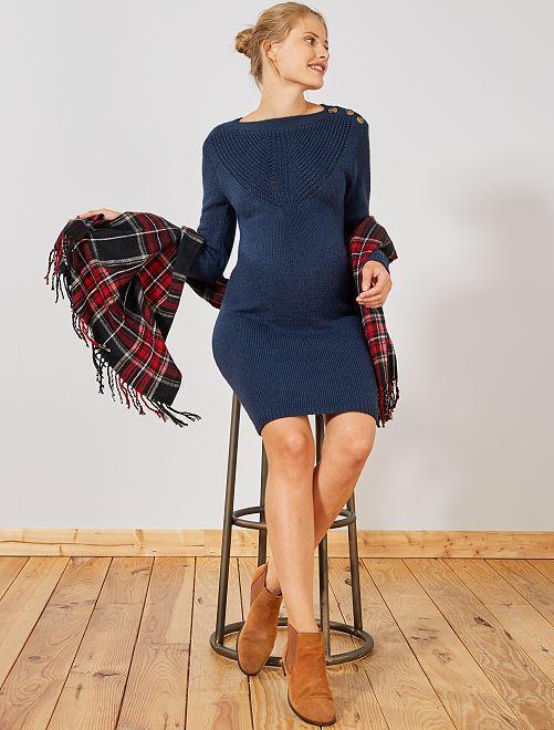 Robe pull chaude de grossesse                                                                 bleu marine