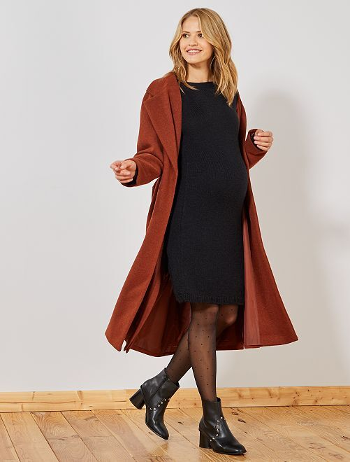 Robe pull chaude de grossesse                                                                 noir