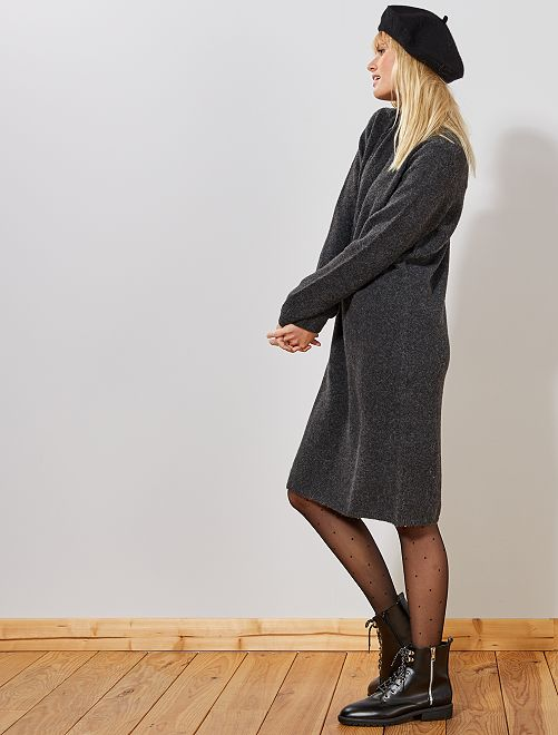 Robe pull col montant 'JDY'                                         anthracite