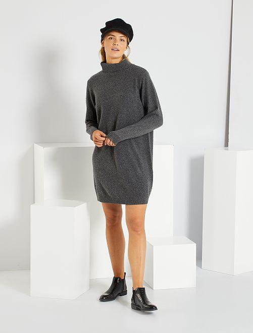 Robe pull col roulé 'JDY'                                                     gris