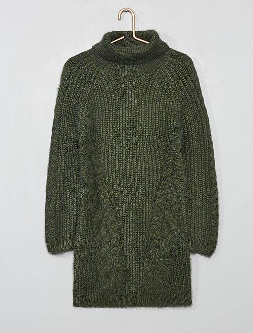 Robe pull col roulé                                                     vert thym