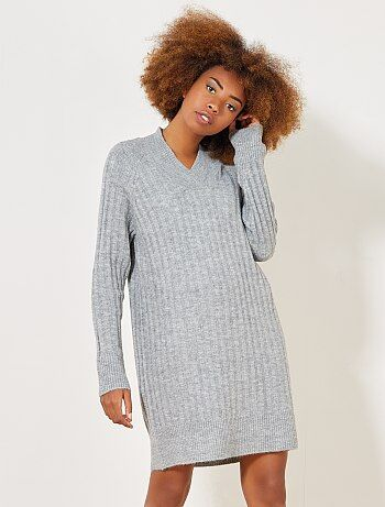 Robe pull col V - Kiabi