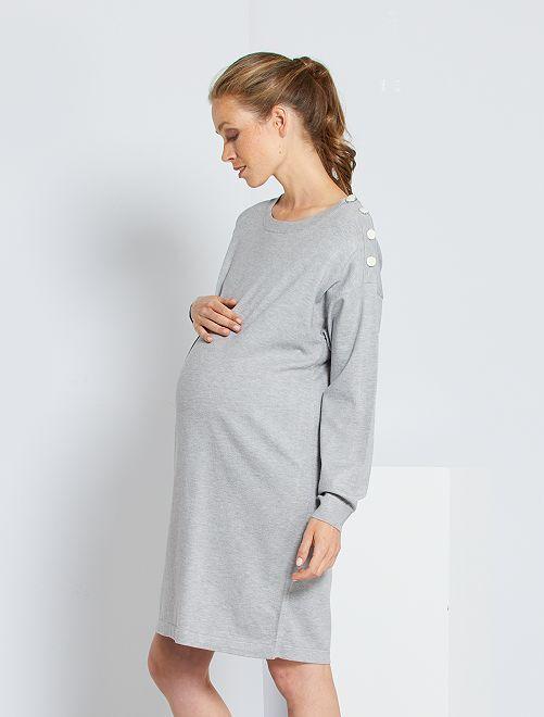 Robe pull de maternité                                                                 gris