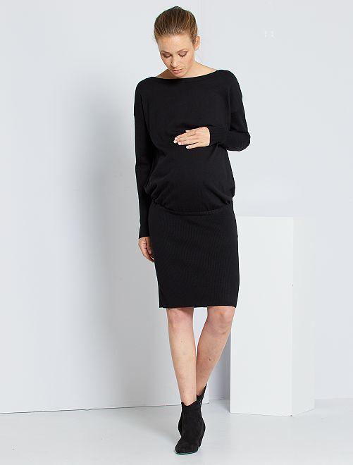 Robe pull de maternité                                                     noir