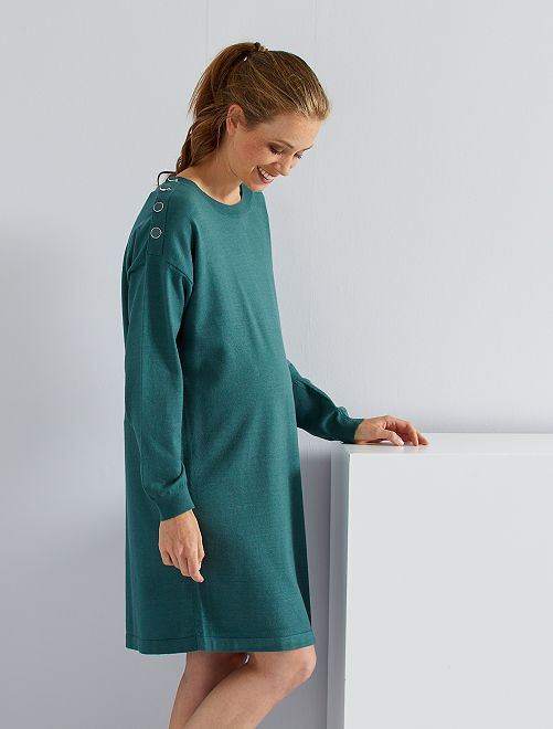 Robe pull de maternité                                                                 vert canard