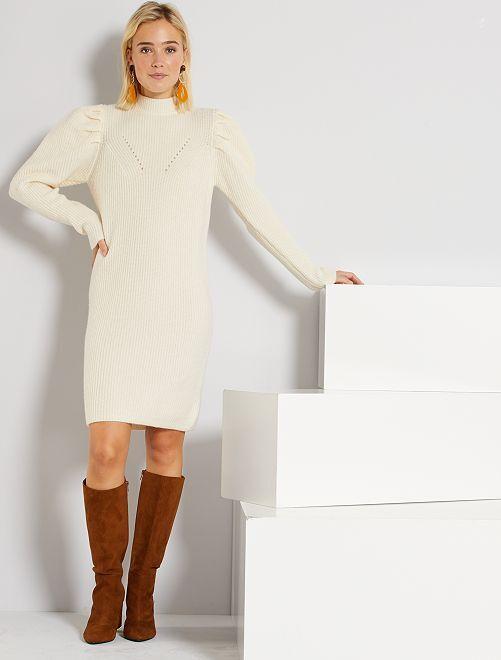Robe pull éco-conçue                                                     écru