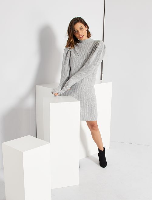 Robe pull éco-conçue                                                     gris