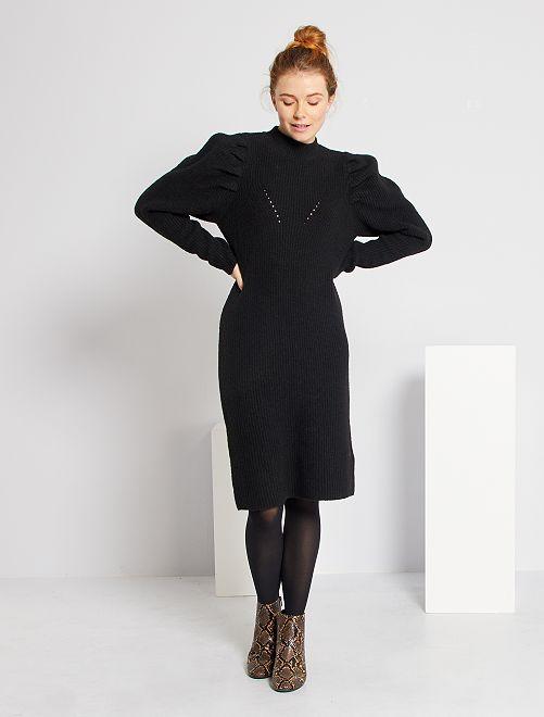 Robe pull éco-conçue                             noir