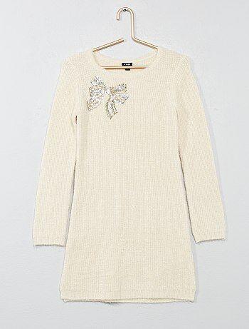 Robe pull en maille côtelée - Kiabi
