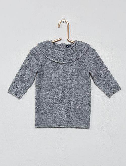 Robe pull en maille                                                     gris