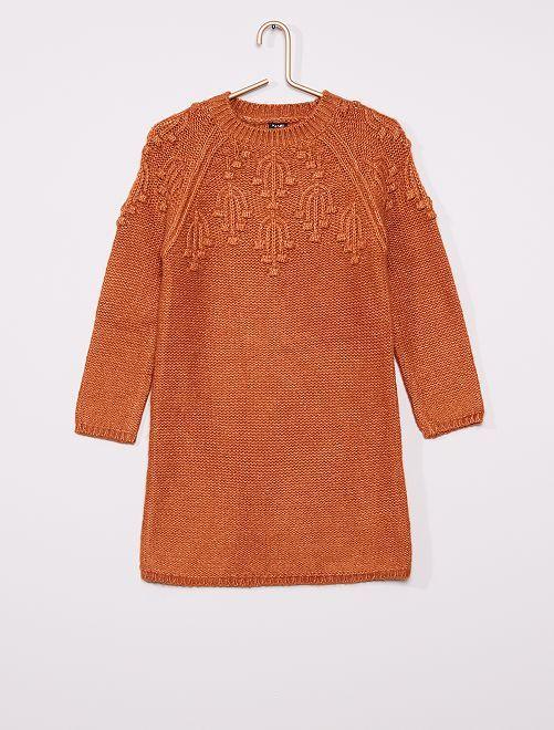 Robe pull en maille                                         marron