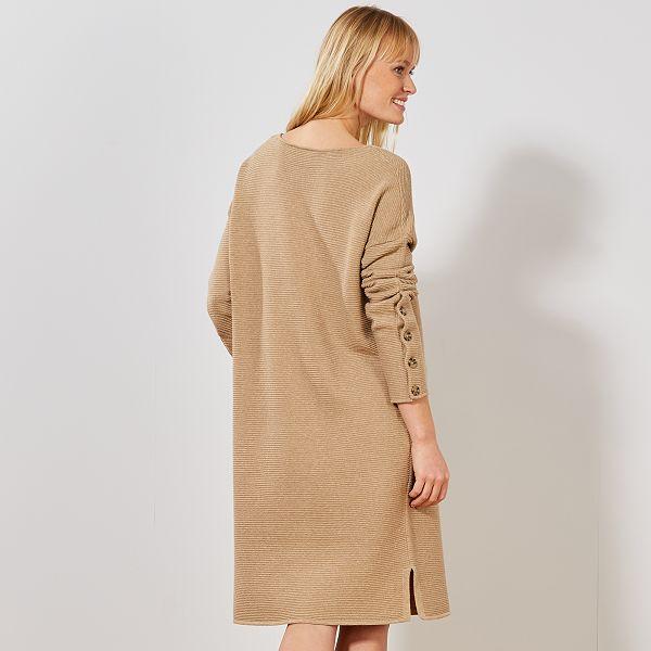 Robe pull en maille ottoman