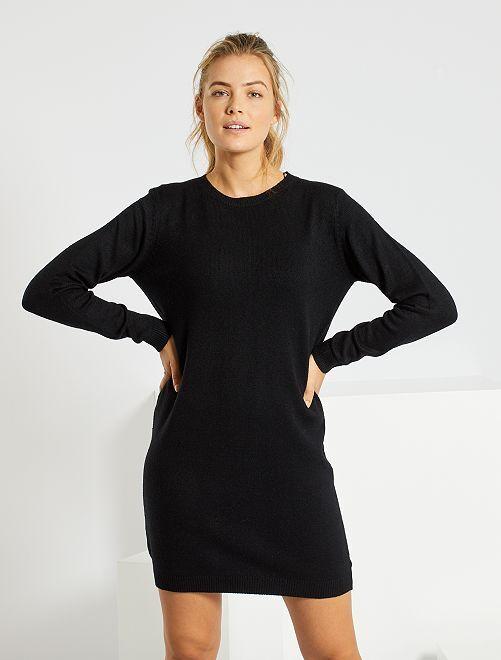 Robe pull 'Jacqueline de Yong'                                         noir