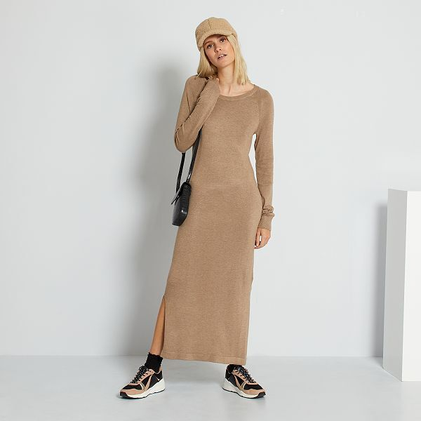 Robe Pull Longue Femme Beige Kiabi 18 00