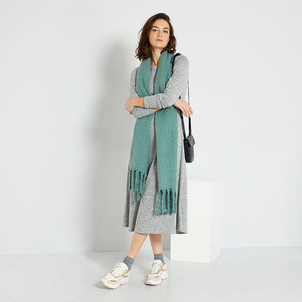 Robe Pull Longue Femme Gris Chine Kiabi 22 00