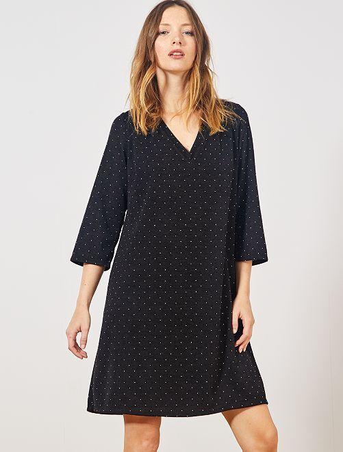 Robe pull                             noir/argent