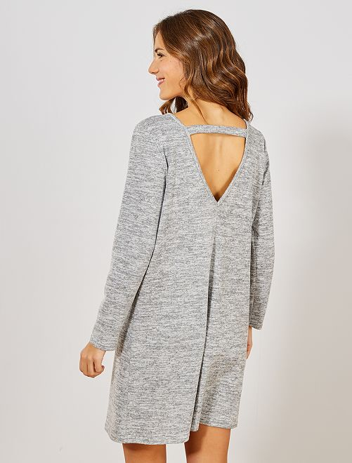 Robe pull ouverture dos                                         gris clair