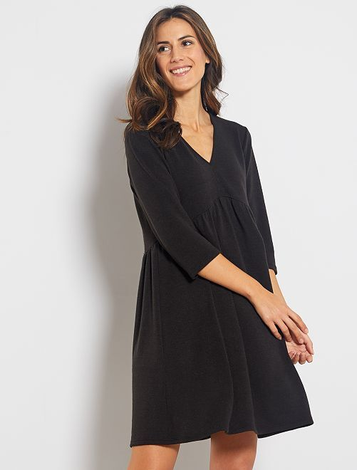 Robe pull patineuse                             noir