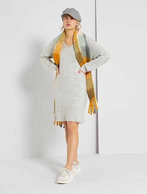 Robe pull unie 'JDY'                                         gris