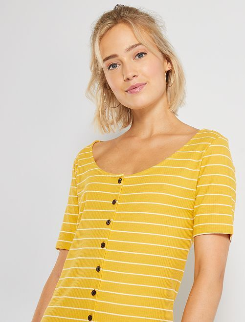 Robe rayée 'JDY'                                                                 jaune