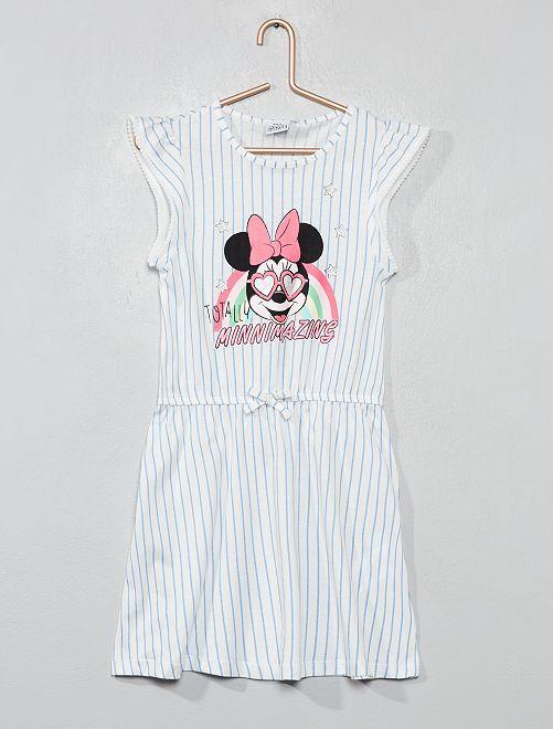 Robe rayée 'Minnie'                             blanc cassé/bleu Fille