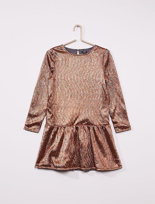 Robe réversible                             gris/bronze