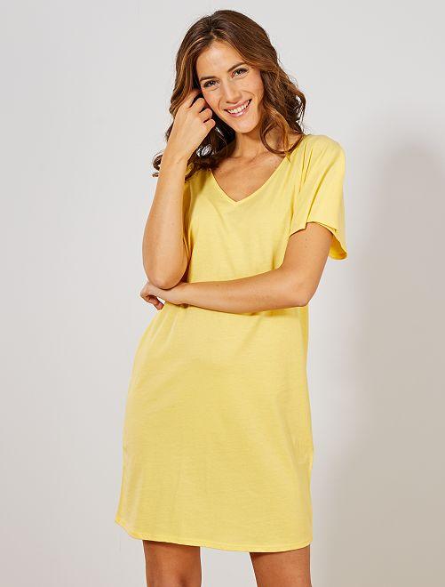 Robe réversible                     jaune