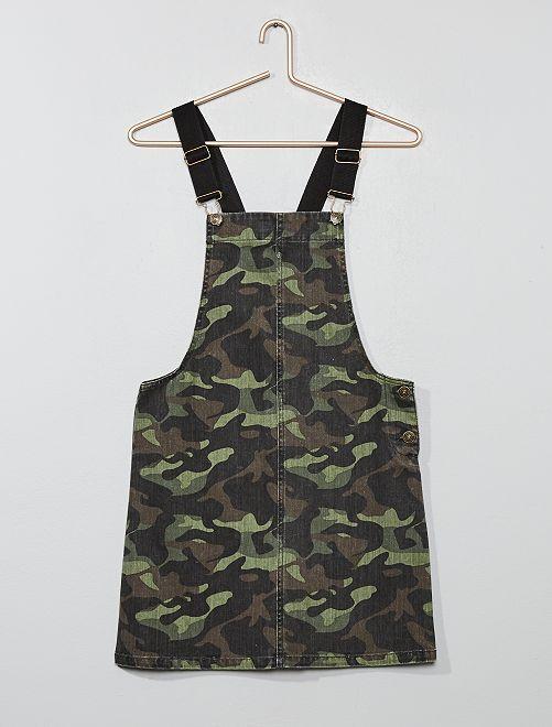 Robe salopette camouflage                             camouflage kaki Fille adolescente