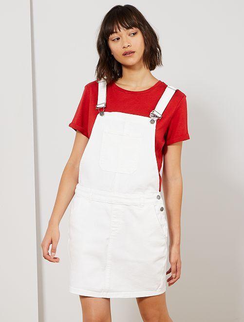 Robe salopette 'éco-conception'                             blanc