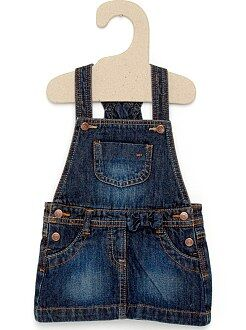 Fille 0-36 mois Robe salopette en denim