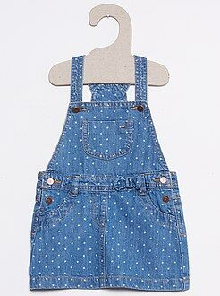 Fille 0-24 mois Robe salopette en denim