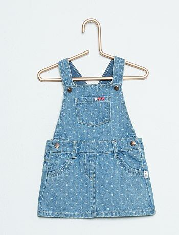 Robe salopette en denim - Kiabi