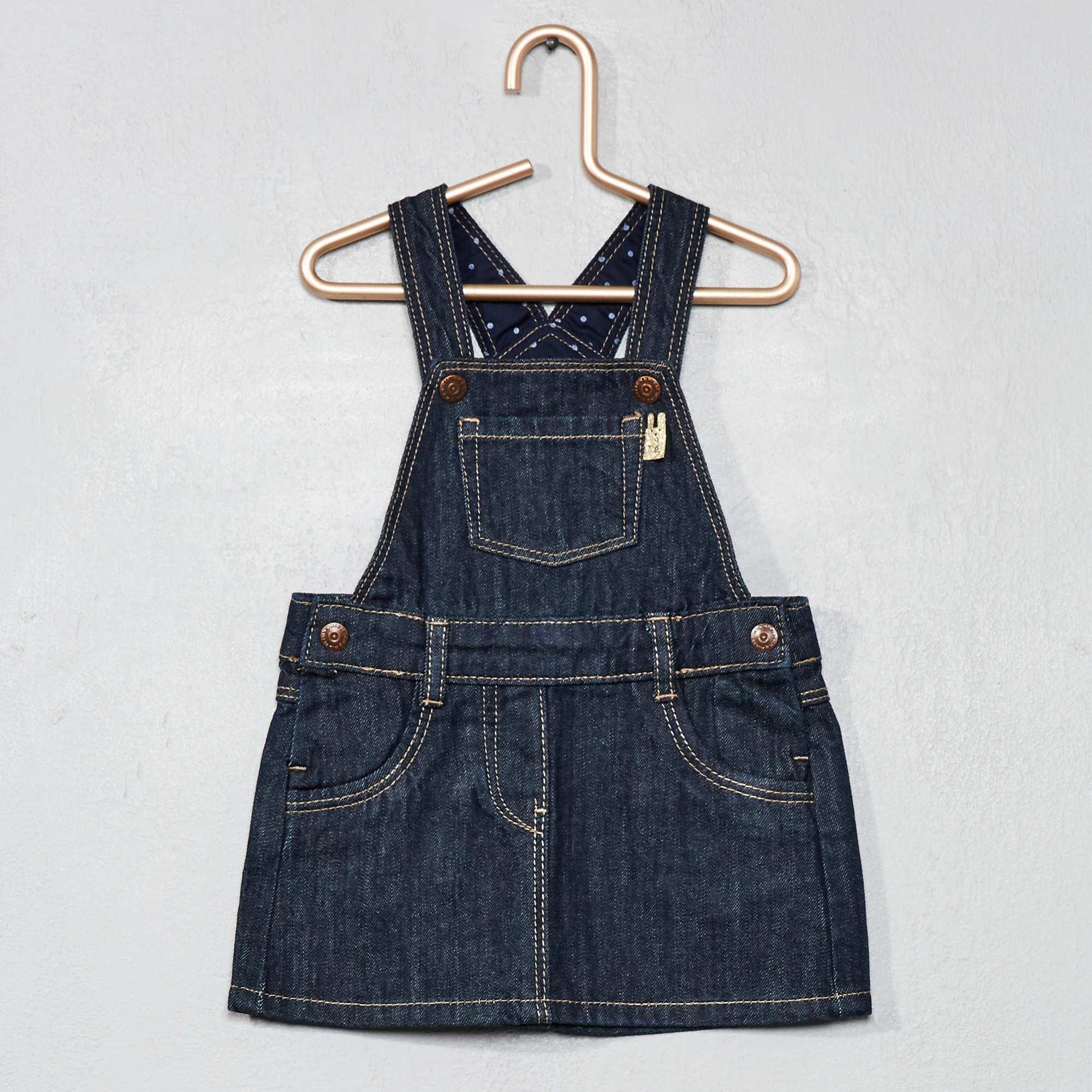 robe salopette en denim b b fille brut kiabi 12 00. Black Bedroom Furniture Sets. Home Design Ideas