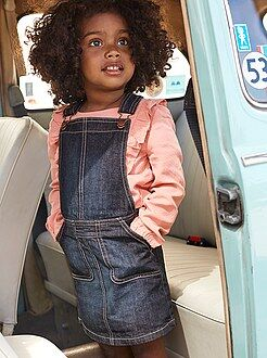 Fille 3-12 ans Robe salopette en denim