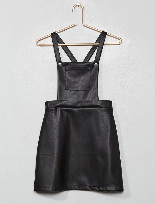 Robe salopette en simili                             noir