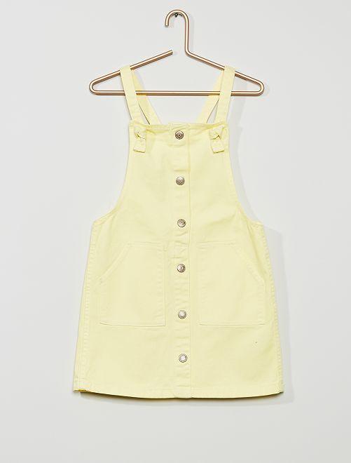 Robe salopette en twill                                                                             jaune