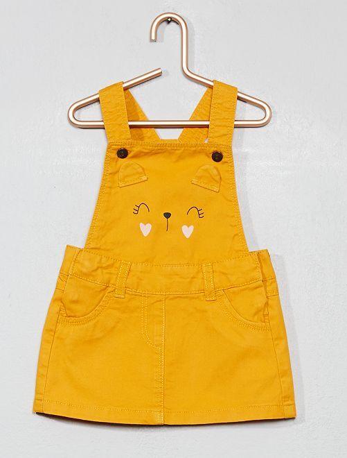 Robe salopette 'souris'                                         jaune safran Bébé fille