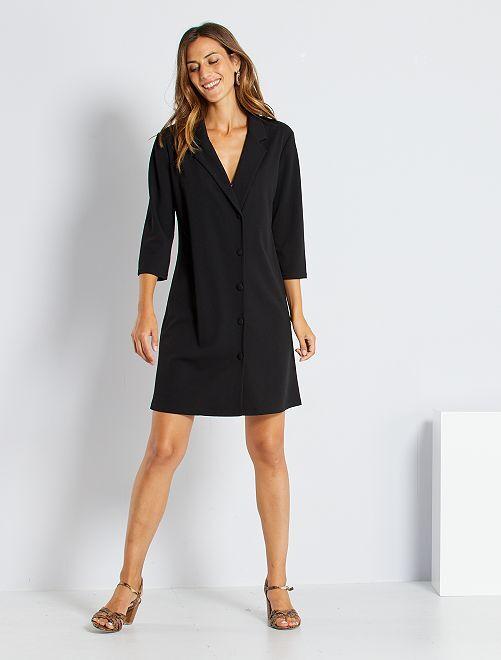 Robe style veste                             noir